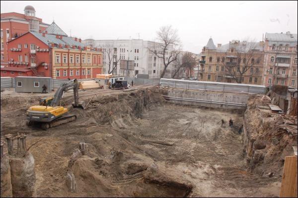 Загальний вигляд місця розкопок