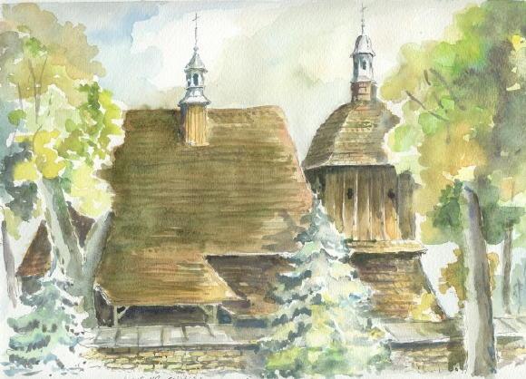 Загальний вигляд з позиції С4. Рисунок Мирослава Огінського