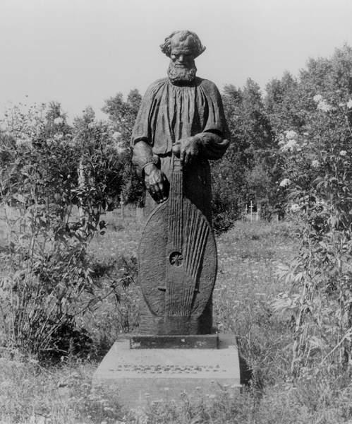Пам'ятник на могилі кобзаря О.М. Вересая. Загальний вигляд