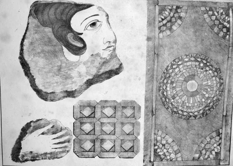[1857 р.] Мозаїчна підлога та залишки живопису