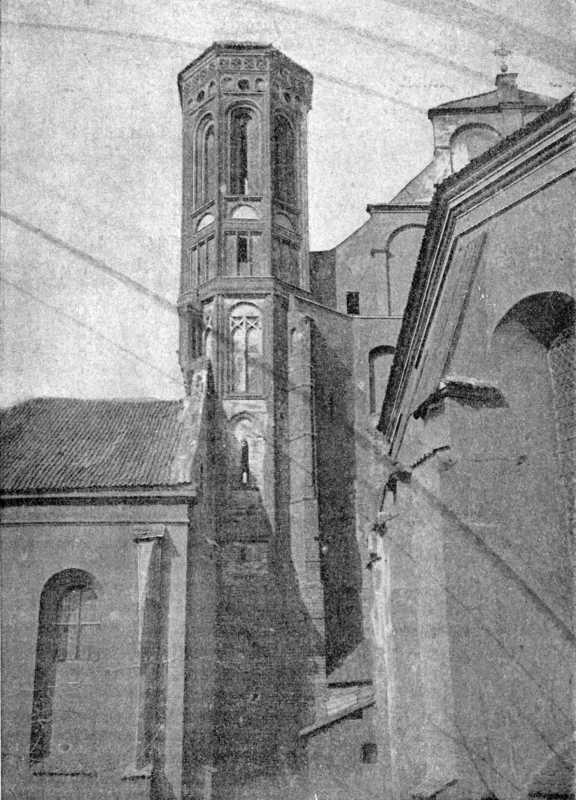 [1900 р.] Готична вежа в тилу костела