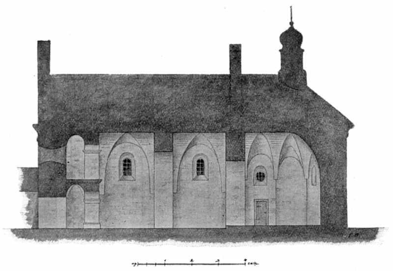 Рис. 81. Разрез Ильинской церкви