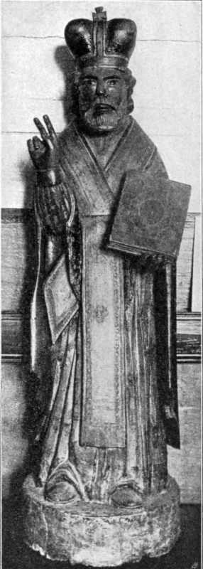 Статуя св.Миколая XVIII віку в с. Липках, Сквирськ. пов , Київщина
