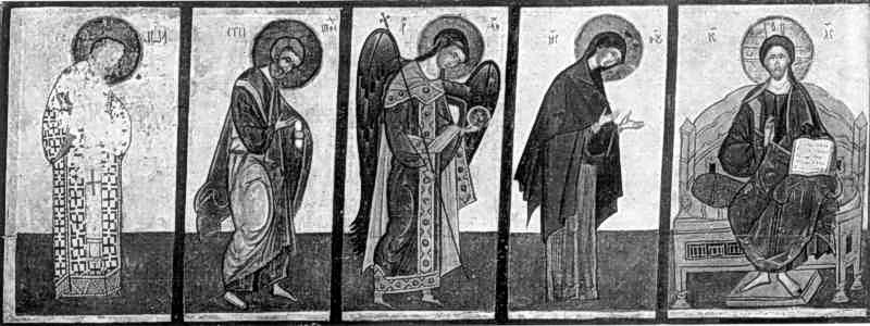 Деісус (ліва частина). Ікона 15 ст.