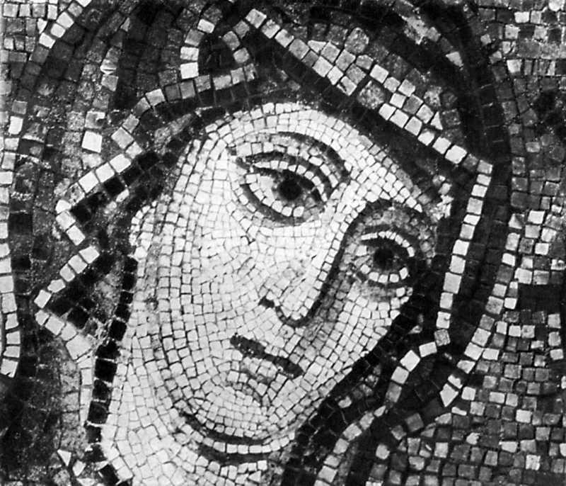Голова богоматері. Мозаїка Софійського собору в Києві