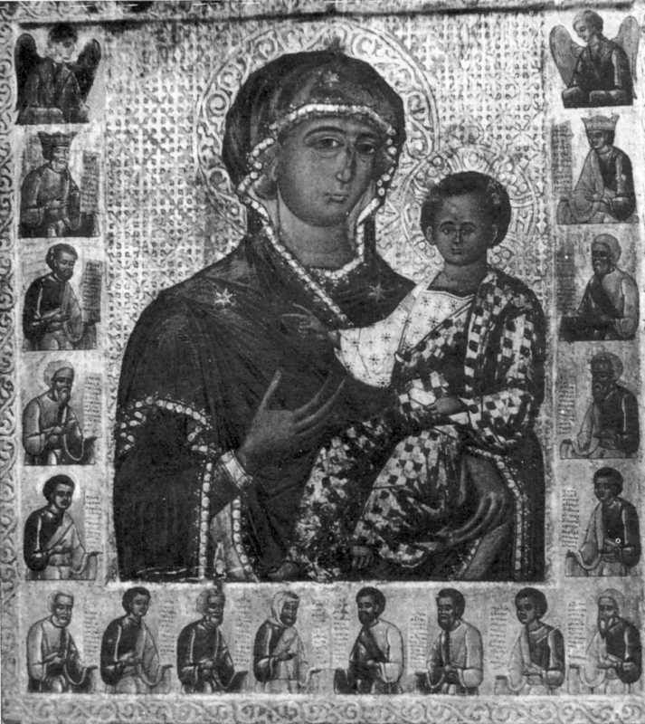 Богоматір з дитиною. Ікона кінця XVI ст. із церкви св. Духа в Потеличі