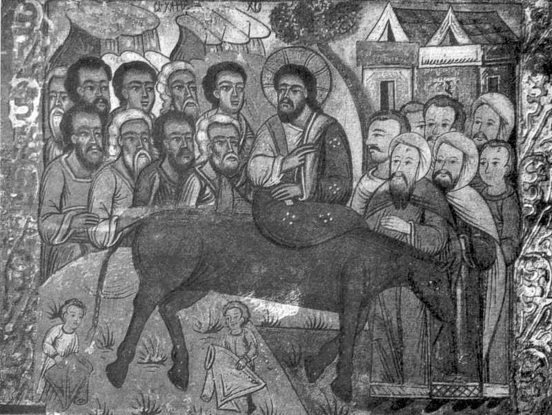 В'їзд до Єрусалима. Ікона кінця XVI ст. з Потелича