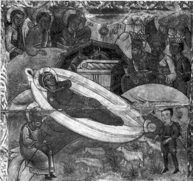 Різдво Христове. Ікона кінця XVI ст. з Потелича