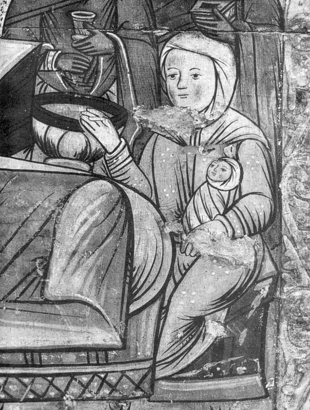 Різдво богородиці. Фрагмент ікони кінця XVI ст. з Потелича