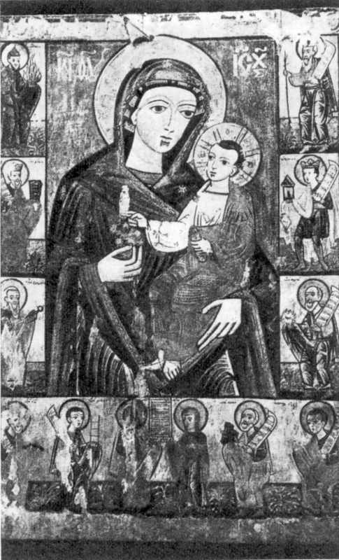 Икона богоматери XVI в. из Николаевской церкви. XVIII в.