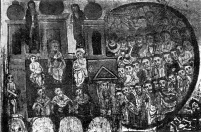 Страшний суд. Ікона 18..19 ст. Фрагмент