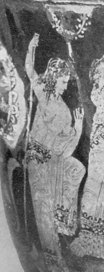 Жінка (?) з палицею
