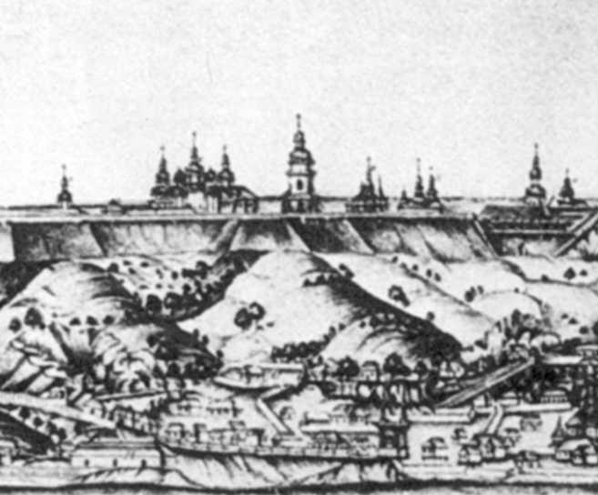 Михайлівський Золотоверхий монастир і фрагмент Подолу