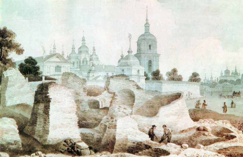 1840-і рр. Розкопки руїн церкви