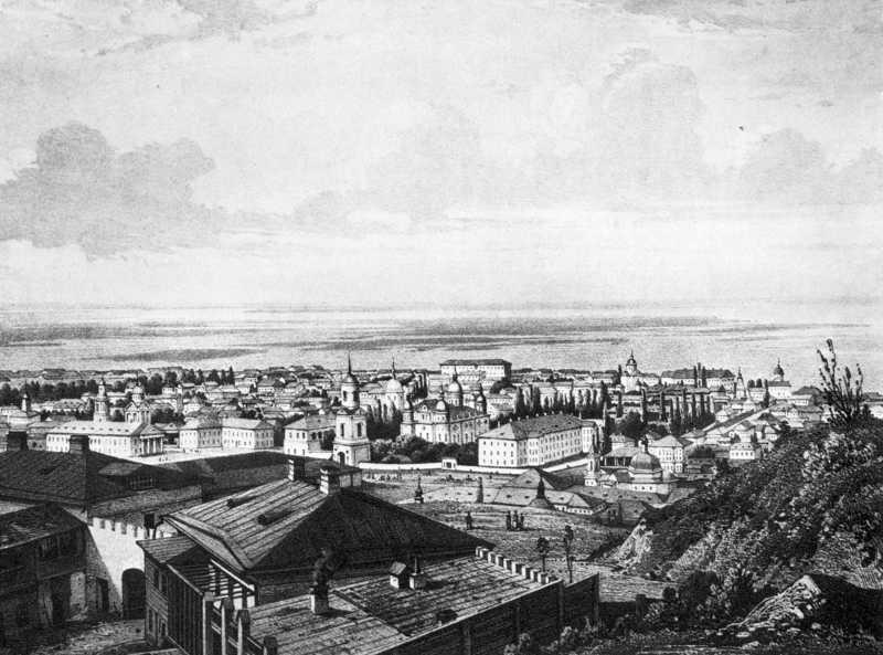1861 р. Краєвид Подолу з Андріївської гори