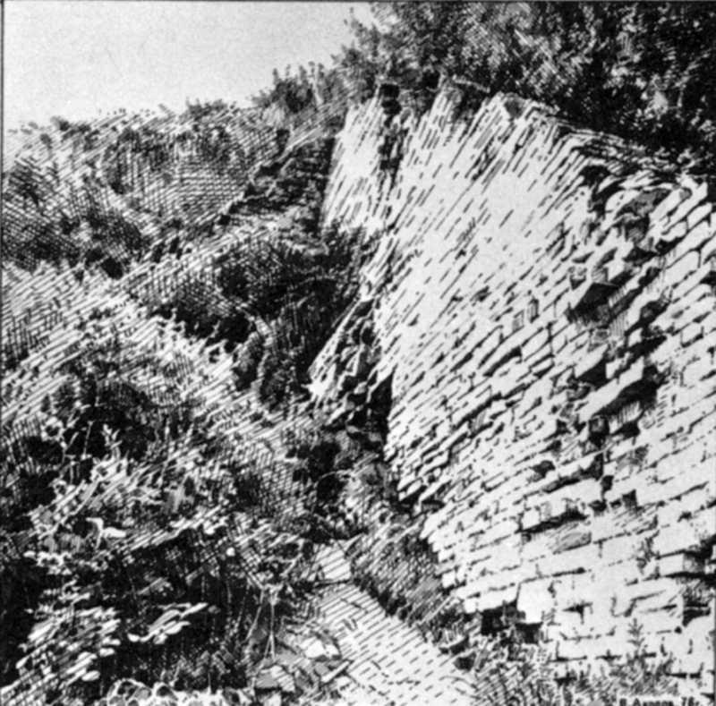 1976 р. Руїни монастирської стіни