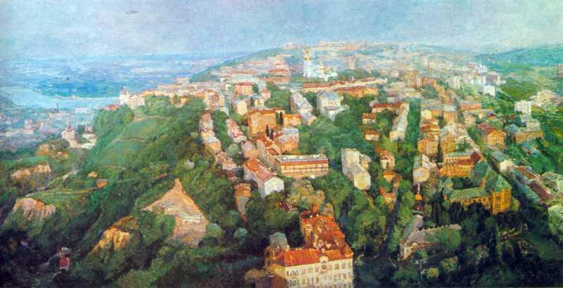 Карнаухов П.Г. Загальний вигляд старого міста з півночі