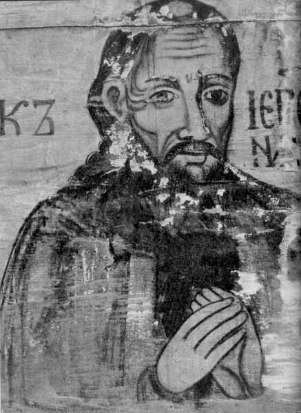 Портрет ктитора церкви - священика Никоря. Стінопис 17 ст.