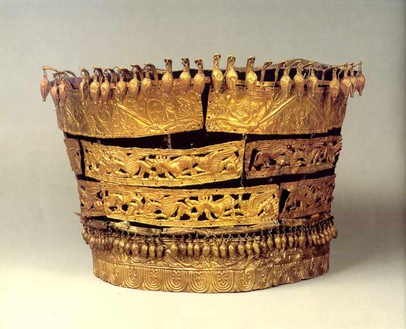 Ритуальний головний убір знатної скіфянки
