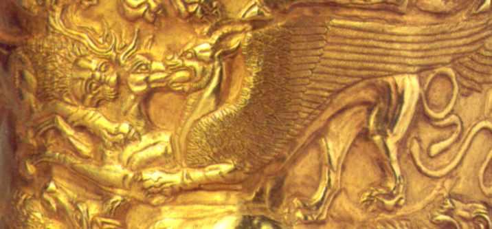 Ярус 2: лев і грифон терзають оленя