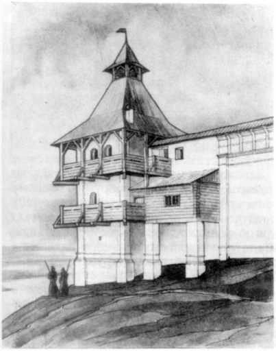 Північна башта. Вигляд із заходу