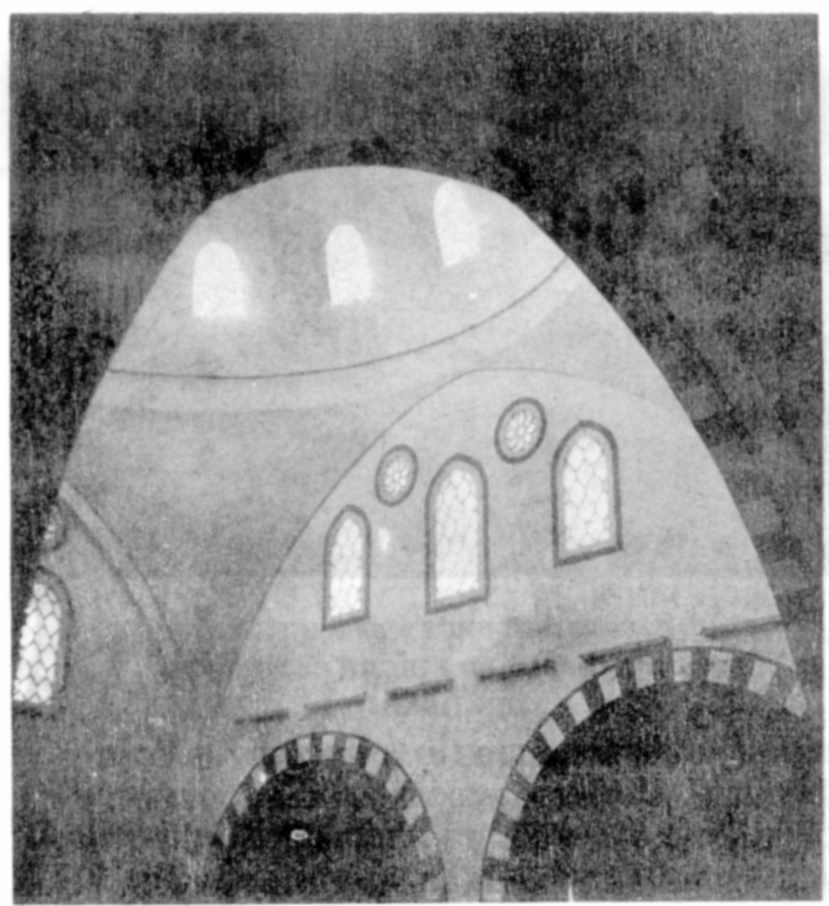 1980 р. Інтер'єр. Фрагмент куполу після реставрації