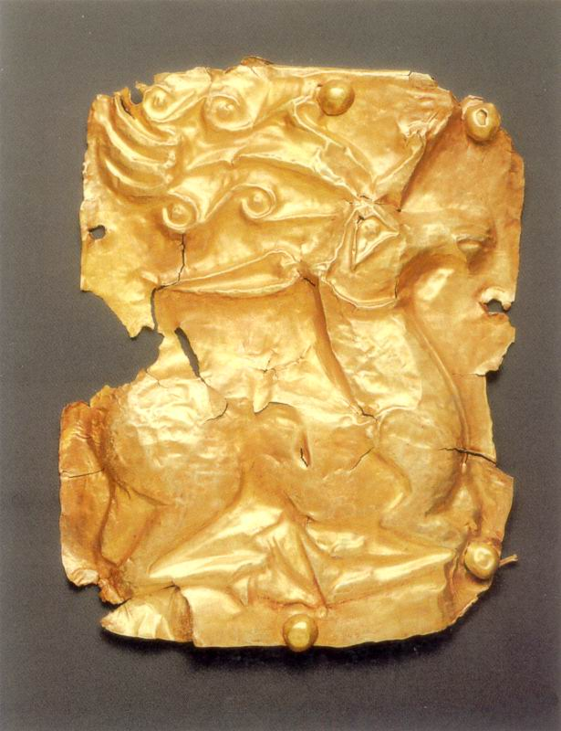 Пластина із зображенням оленя