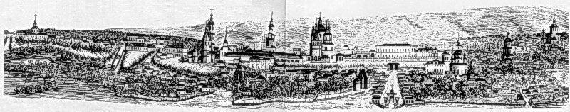 1787 р. Вигляд міста з заходу. Літографія