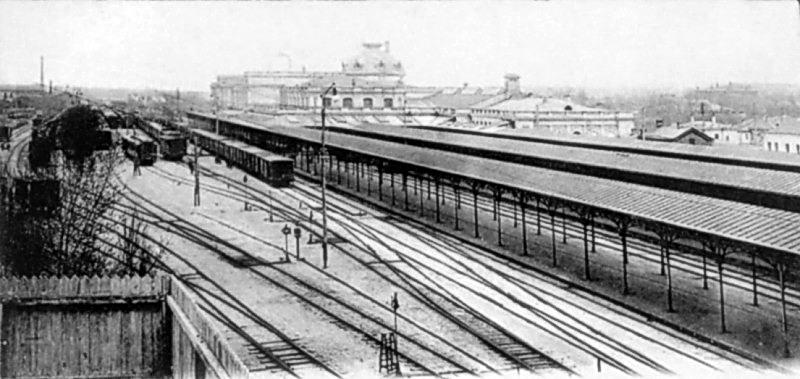 1907 р. Залізничні колії і вокзал