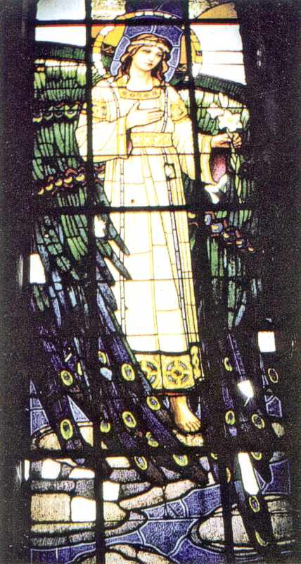 Архангел Гавриїл. Вітраж у каплиці Покрови