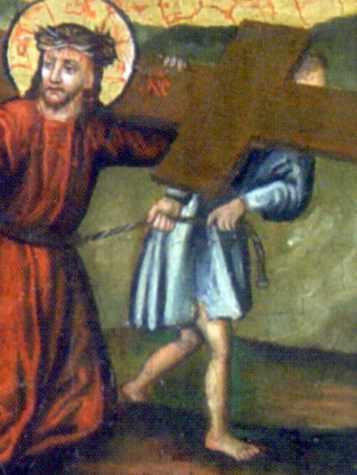 Слуга тягне Ісуса
