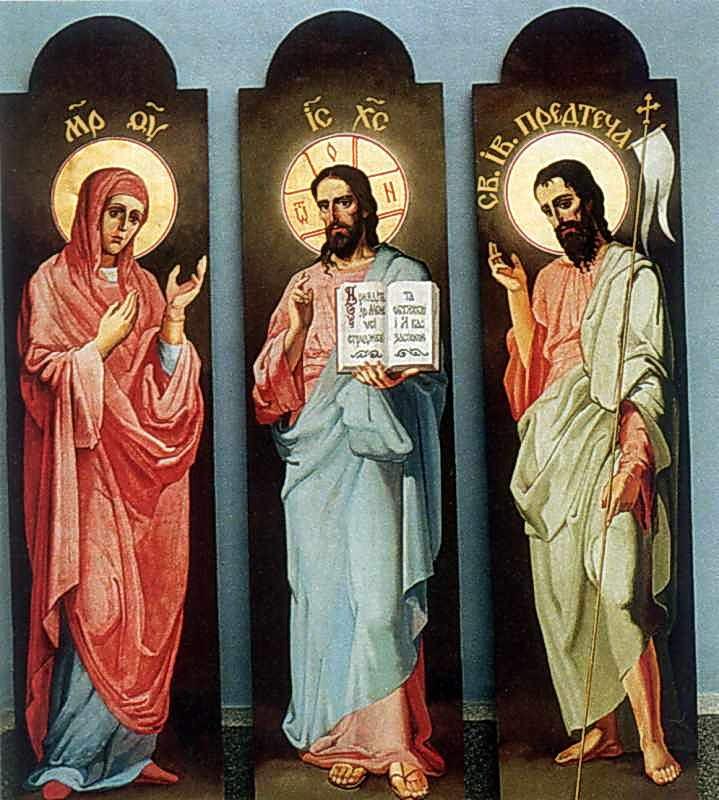 Деісус. Ікони для ліхтаря бані собору