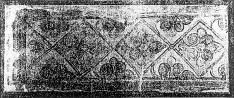 Фрагмент фрескового орнаменту