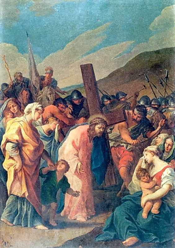 """Стація VIII. """"Христос, несучи хреста, втішає жінок, що плачуть """""""