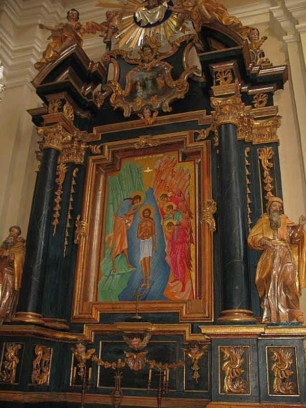 2012 р. Бічний вівтар з іконою Хрещення