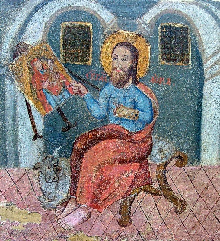 Євангеліст Лука малює ікону богородиці
