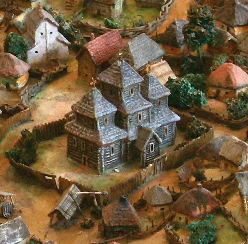 Гіпотетична дерев'яна церква (умоглядна реконструкція)