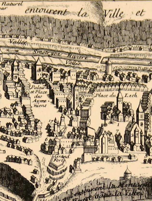 Центральна частина міста з Польським ринокм