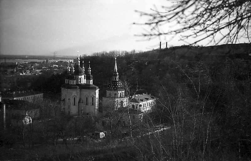 1977 р. Георгіївський собор і дзвіниця. Вигляд з північного заходу