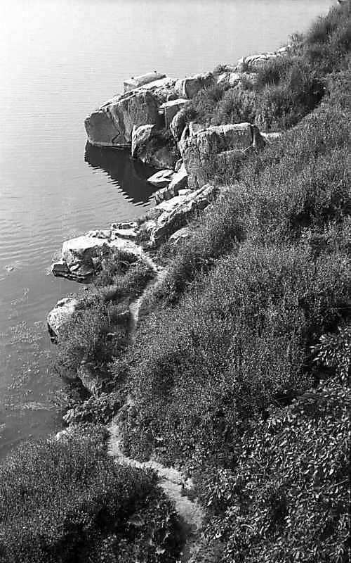 1977 р. Ріка Рось біля замчища