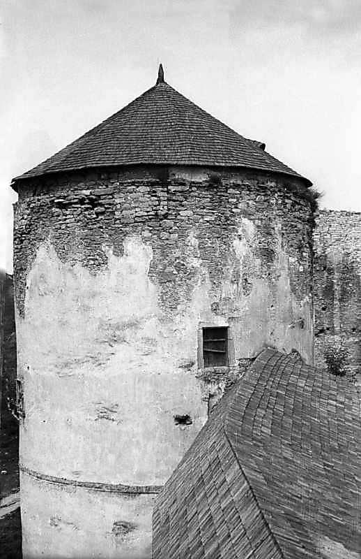 1977 р. Вигляд з південного сходу, з верхнього ярусу Тенчинської башти