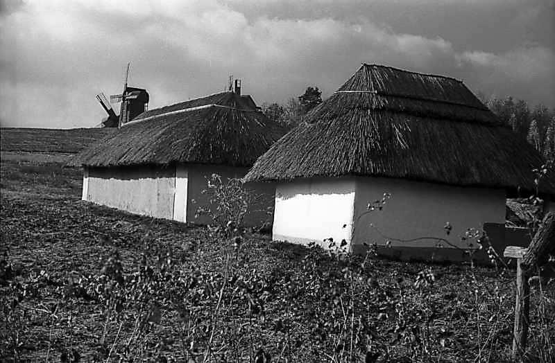 1977 р. Шопа (зліва) і комора (справа)