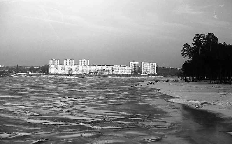 1979 р. Вид на житловий масив Біличі з північного заходу