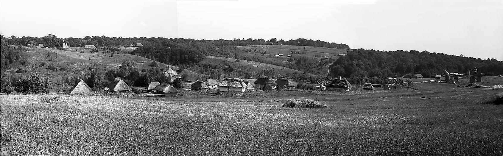 """1980 р. Панорама зон """"Поділля"""", """"Карпати"""", """"Полісся"""" з гірки вітряків"""