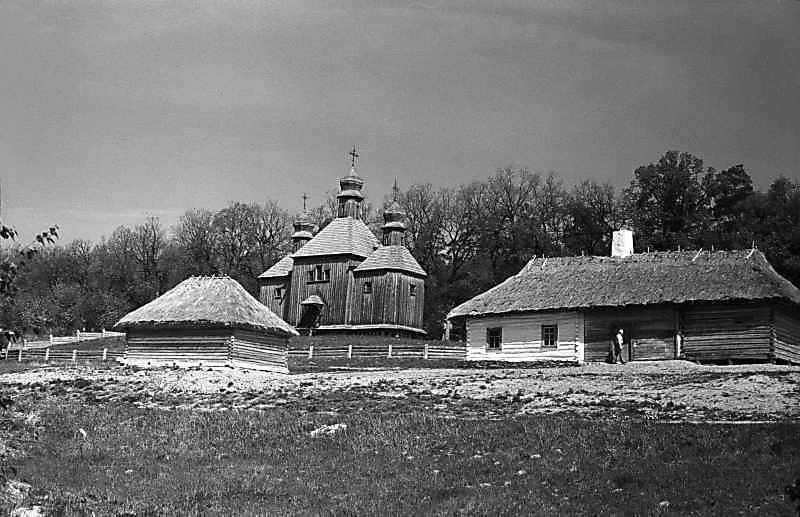 1984 р. Садиба із с.Бзів і церква із с.Дорогинка