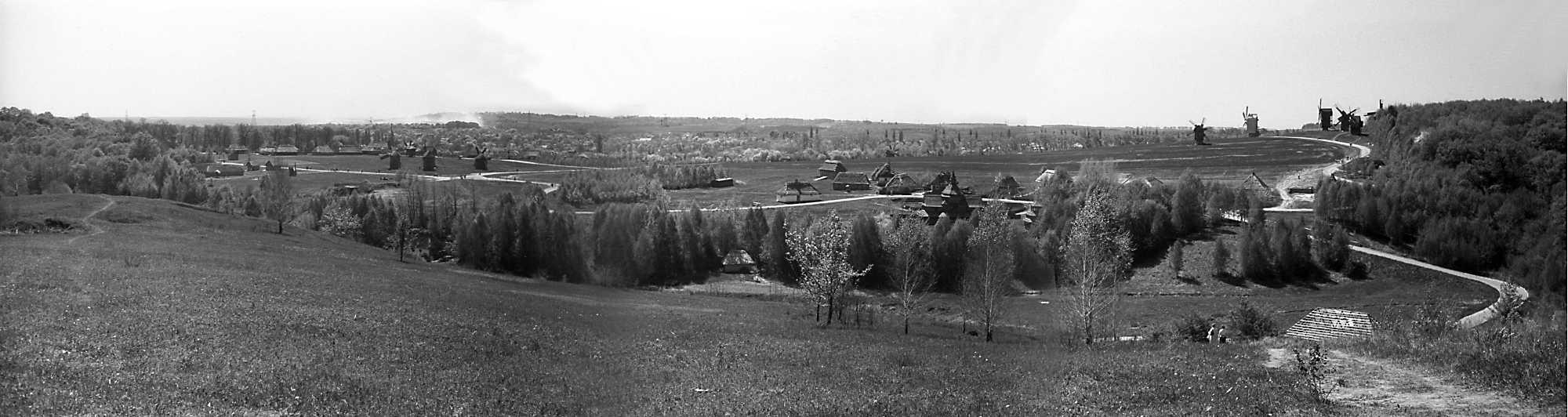 """1984 р. Панорама зон """"Полісся"""", """"Поділля"""" та гірки вітряків з півночі"""