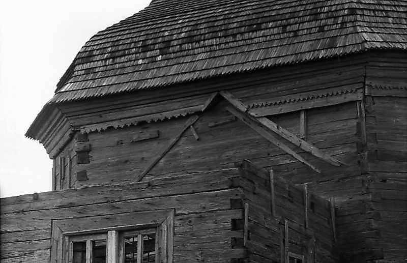 1984 р. Верхня частина бабинця без даху. Вигляд з південного заходу