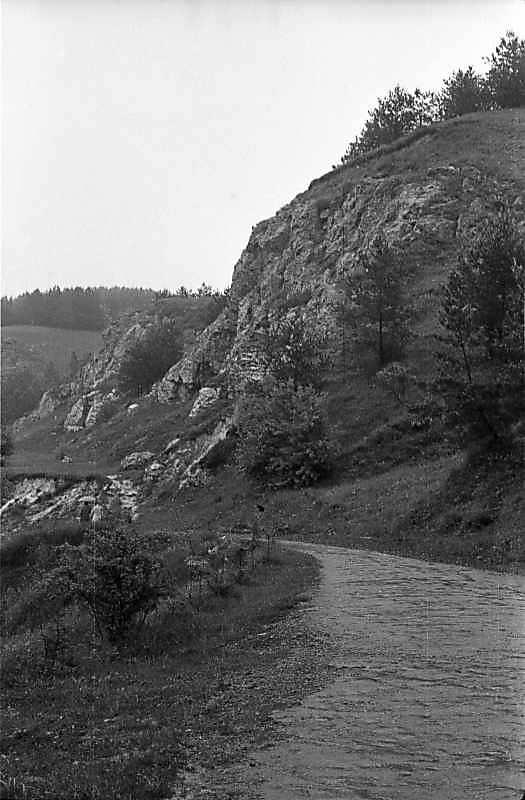 1985 р. Скелі й дорога до печери