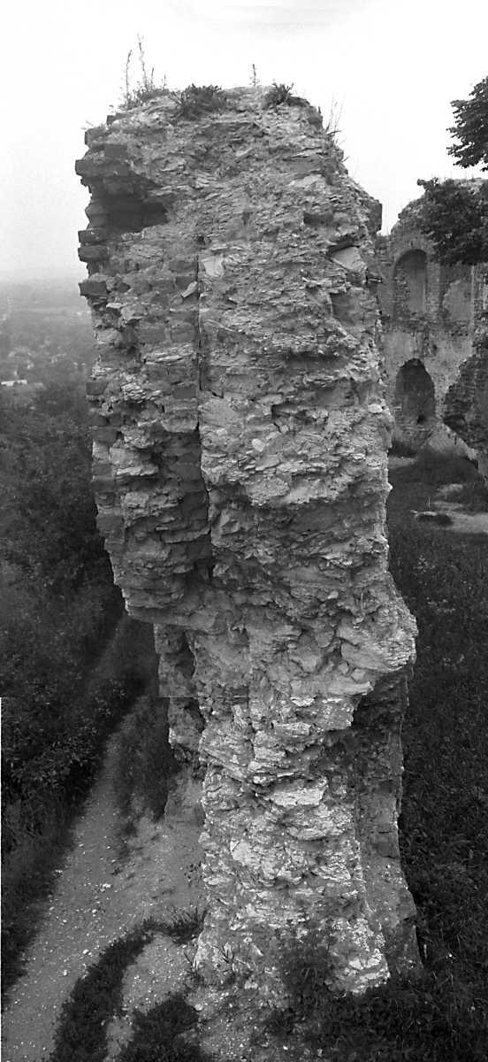 1988 р. Обрив кладки чільного муру. Вигляд зі сходу