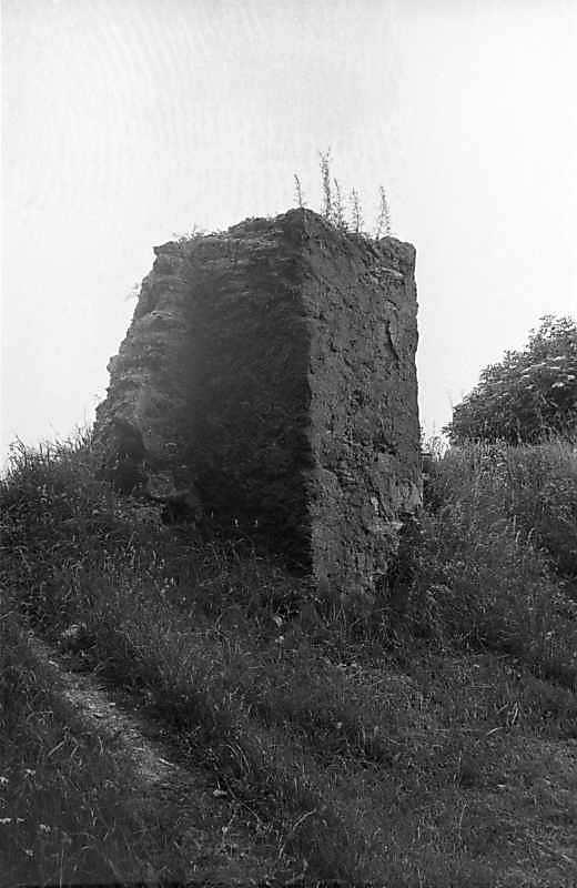 1988 р. Фрагмент чільного муру. Вигляд з північного сходу
